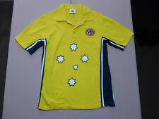085 MENS NWOT VB GREEN / GOLD 'WARNIE' S/S CRICKET POLO SML $--.