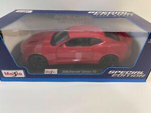 MAISTO 1/18 Diecast 2016 Chevy Camaro SS RED #31689