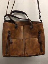Ivy and Fig Brown Vegan Leather Designer Bag Handbag NEW without tags NWOT