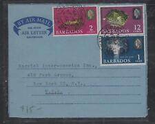 BARBADOS COVER (P1612BB) 1970 QEII FORMULA AEROGRAM FISH 1C+2C+12C SENT TO USA