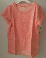Oshkosh Originals NEW Girls Printed Tee Shirt Top Size 6X Coral ~ NWT $16