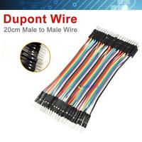 40PCS Dupont wire jumper cables 20cm 2.54MM male to male 1P-1P For Arduino MT