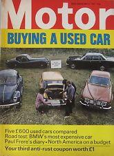 Motor magazine 8/5/1971 featuring BMW 2800CS road test