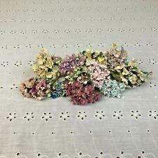 Vintage Miniature Floral Millinery Flower Stems Cluster Bouquet Spray Lot Korea