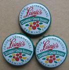 3 CRANBERRY GINGER SHANDY GREEN LEINENKUGAL'S MICRO OBSOLETE BEER BOTTLE CAPS