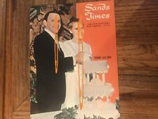 Sands Hotel Frank Sinatra Mia Farrow Wedding Cake Front Cover Sands Times 1966