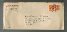 1940 Shanghai China Cover to USA American Presbytarian Mission Missionary