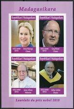 Madagascar 2019 MNH Nobel Prize Winners 2018 4v IMPF MS Chemistry Physics Stamps
