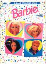 VINTAGE 1993 BARBIE GIANT COLORING BOOK BY GOLDEN
