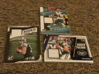 Sam Darnold Rookie Card Lot With Relics, Inserts.  New York Jets