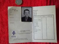 Scout de France-Carte d'éclaireur 1954