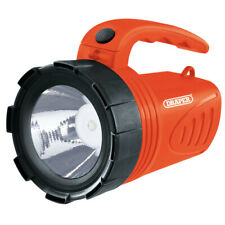 3W LED Rechargeable Spotlight Torch ORANGE DRAPER 66013 camping garage home