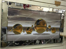 Gold/champagne spheres/balls with liquid art,crystals picture & misty background