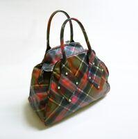 Authentic Vivienne Westwood Multicolor Derby Tartan Bowling Bag
