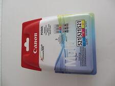 ORIGINAL 5x Canon Pixma pgi-520bk cli-521cmy + BK iP4600 MP540 MP620 MP980