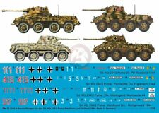 Peddinghaus 1/35 Sd.Kfz.234/2 Puma German AFV WWII Markings 1944 (4 veh.) 3345