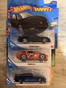 Hot Wheels Mazda RX-7 ,3 Car Bunde