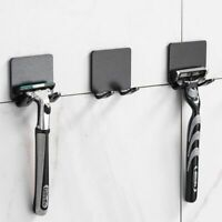 Razor Holder Shaver Wall Storage Hook Shelf Bathroom Rack Organizer Toothbrush