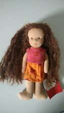 Kathe Kruse waldorf doll sand weighted mohair/sheep wool NWT 7'' 100% natural