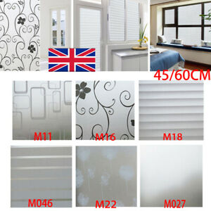 🦆 Room Bathroom Home Window Film Door Privacy Bath Sticker PVC Frosted 45/60cm