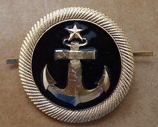 RUSSIAN   SOVIET CCCP   ARMY    PIN BADGE HAT  COCKADE  NAVY
