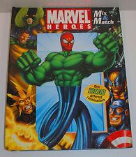 "2006 Marvel Comics Heroes & Villains Mix & Match 12"" Book Over 200 Combinations"
