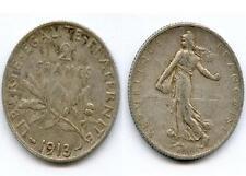 TRES RARE MONNAIE DE 2 FRANCS SEMEUSE ARGENT DE 1913 @ LA PLUS RARE @ TOP COTE