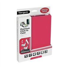 TARGUS PREMIUM CLICK IN CASE FOR IPAD 2 3 4 FREE HEADSET PINK RED BEU3171-01P