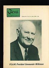 Commander Wilkinson Pcam Genii Magicians Magazine June 1970 - contents in post