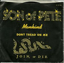 45 rpm - SON OF PETE - Don't Tread On Me -  w/PS - vg+