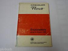 Teilekatalog / Ersatzteilliste Kreidler Florett Mofa / Mockick / Motorrad 1966