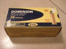 Vintage EMPTY CIL Dominion 38 SPECIAL SHELL BOX Center Fire Cartridge Montreal 1
