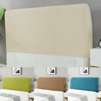 Thicken Elastic Bed Head Cover Headboard Back Protection Dust Cover Solid Color
