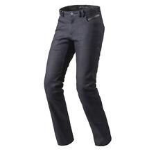 Pantaloni blu in cotone per motociclista Uomo