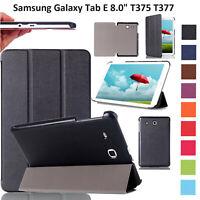 Étui Pour Galaxy Tab E 8.0 T375 T377 Cuir Clapet Magnétique Support Slim Smart