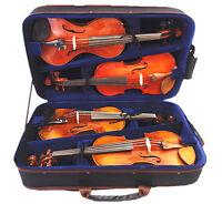 New Pro. Wooden 4/4 Violin case for 4 pieces violins