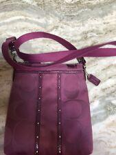 Women's Purple Coach Crossbody Handbag Large C Logo Mint Condition