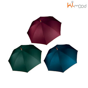 Ki-Mood Automatic Wooded Umbrella - Plain Auto Opening Wind-Resistant Brolly
