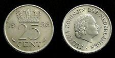 Netherlands - Juliana 25 Cent 1956