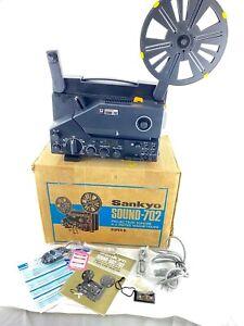 VTG Sankyo Sound 702 Super 8 Movie Projector 8mm JAPAN w/ Box & More