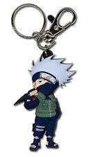 **Legit** Naruto Shippuden Authentic PVC Keychain Kakashi Holds Sharingan #36695