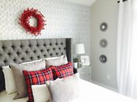 Wallpops Geometric Grand Trellis Peel and Stick Gray White NU Wallpaper Gray