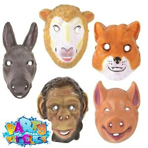 Adults Animal Face Mask Animal Cosplay Mens Ladies Fancy Dress Costume Accessory