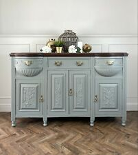 More details for edwardian hand painted bow fronted sideboard