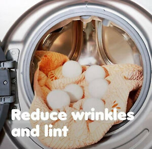 6PCS 6cm Home Wool Tumble Dryer Balls Natural Reusable Laundry Clean Practical