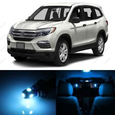 15 x ICE BLUE LED Lights Interior Package Deal For Honda PILOT 2016 - 2019 +TOOL
