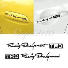 4pcs TRD Car Truck Door Handle Doorknob Decoration Stickers Decal Paster Black #