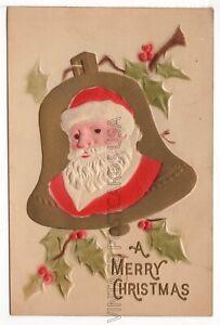 Highly Embossed Santa Antique Christmas Postcard