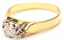 Natural Diamond Solitaire with Accents Fine Rings