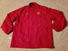 United Manchester Soccer Jacket Nike Brand Mens XL X-Large Red Full Zip
